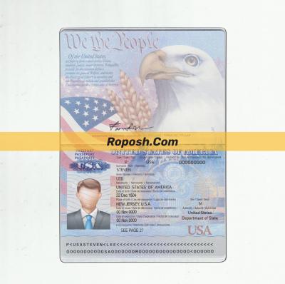 فایل لایه باز پاسپورت کشور آمریکا