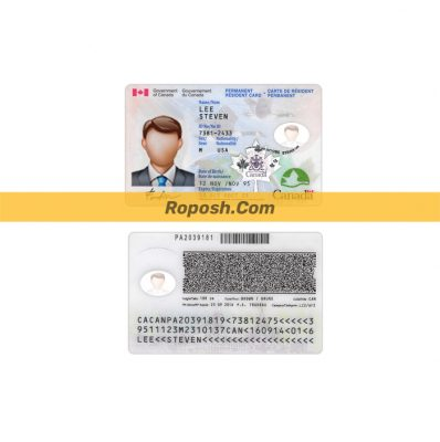 فایل لایه باز کارت شناسایی (آی دی کارت) کشور کانادا