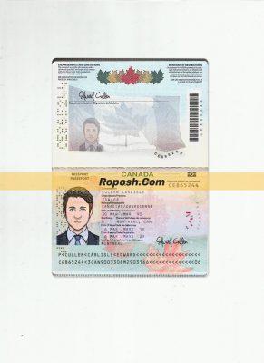 فایل لایه باز پاسپورت کشور کانادا