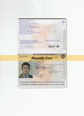 فایل لایه باز پاسپورت کشور فرانسه