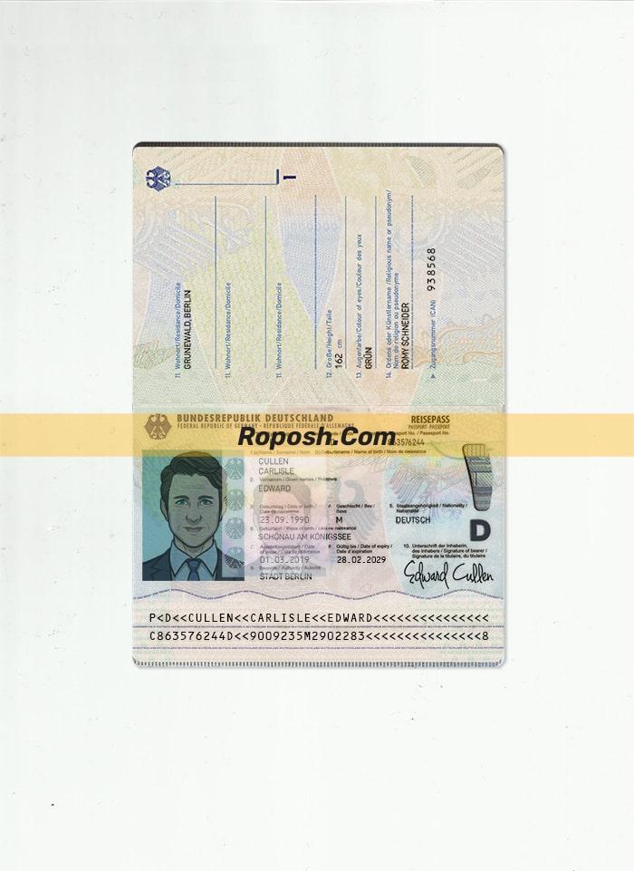 فایل لایه باز پاسپورت جدید کشور آلمان