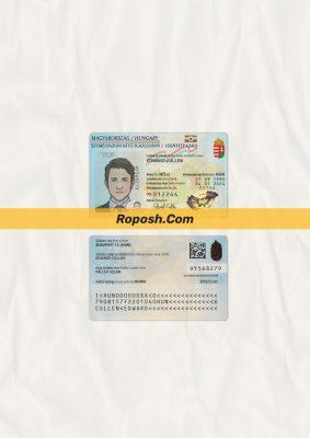 Fake Hungary id card psd template