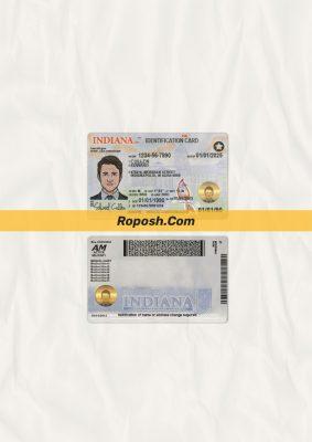 Fake Indiana id card psd template