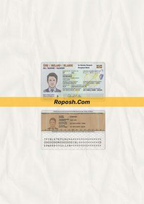 Fake Ireland id card psd template