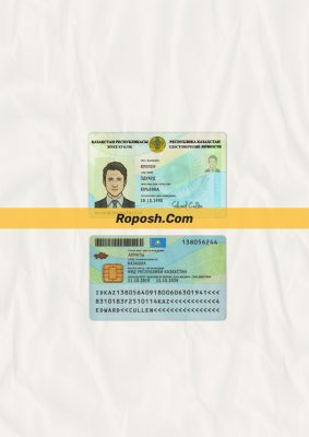 Fake Kazakhstan id card psd template