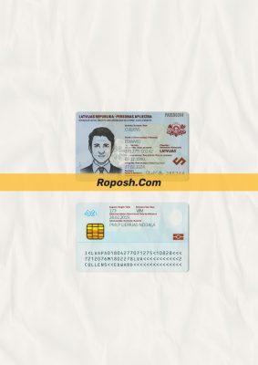 Fake Latvia id card psd template