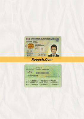 Fake Lithuania id card psd template