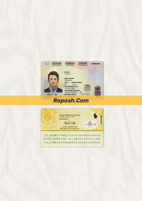 Fake Luxembourg id card psd template