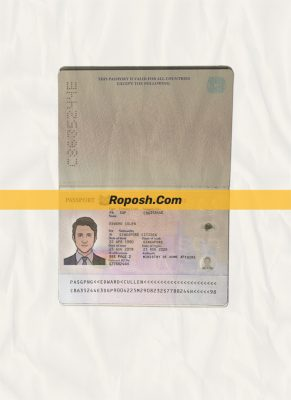 singapore passport psd template