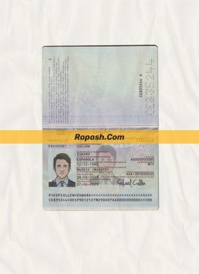 spain passport psd template (v2)