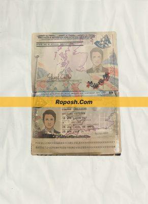 uk passport psd template (v1)