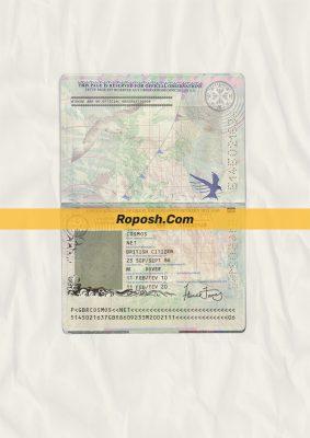 uk passport psd template (v2)