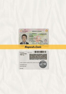 Georgia driver license psd template (v1)