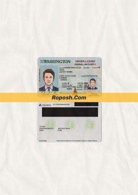 Washington driver license psd template new